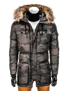 Camo parka with hood Ombre C 318